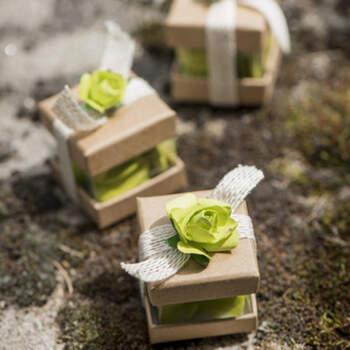 Cajas Para Almendras Cubo Kraft 6 unidades- Compra en The Wedding Shop