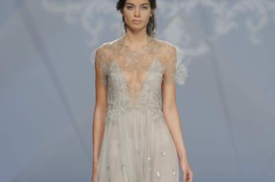 Vestidos de novia con escote ilusión 2017: Más de 50 diseños que harán tus sueños realidad