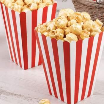Boite Pop-Corn Rouge Et Blanc 8 Pièces - Achetez sur The Wedding Shop !