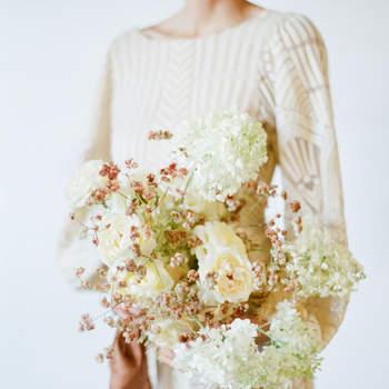 Bouquet de mariée fleurs blanches Trynh Photography