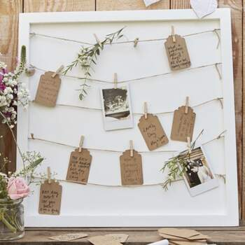 Livre D'or Cadre Avec Lacets - The Wedding Shop !