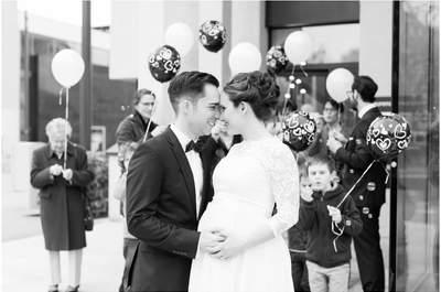 Entspannt heiraten mit Babybauch: Nadines & Fulvios standesamtliche Hochzeit in Aarau