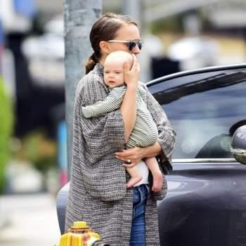 Natalie Portman foi mãe a 22 de Fevereiro. Amália é a segunda filha da atriz com Benjamim Millepied. Foto DR
