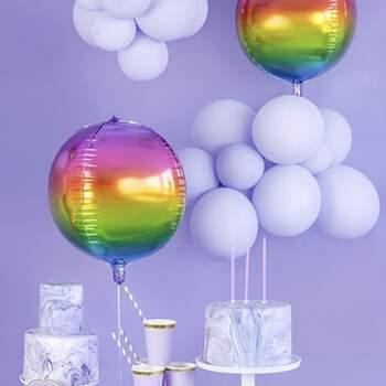 Ballon Globe Arc En Ciel - The Wedding Shop !