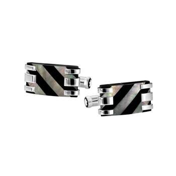 Gemelos cuadrados de acero/ Créditos: Montblanc y G&G Joyeros