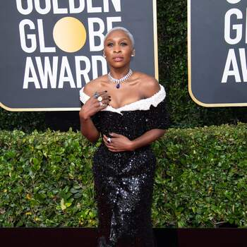 Cynthia Erivo in Tom Browne | Credits: Cordon Press