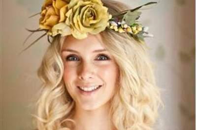Zauberhafter Brautschmuck - Haarkranz für die Braut