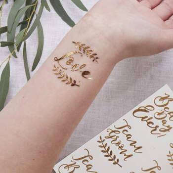 Tatuajes de oro 12 unidades- Compra en The Wedding Shop