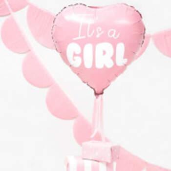 Ballon Cœur It's A Girl - The Wedding Shop !