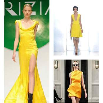 Krizia, Marni et Victoria Beckham ont misé sur le jaune pour leurs collections