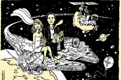 Originelle Hochzeitseinladungen mit Karikaturen – von El Coyote