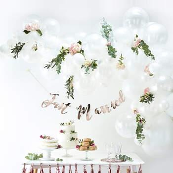 Arco de globos blanco 70 unidades - The Wedding Shop