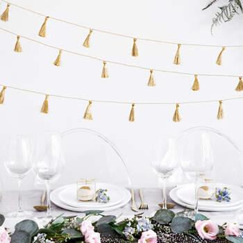 Guirnalda Borlas color Oro- Compra en The Wedding Shop