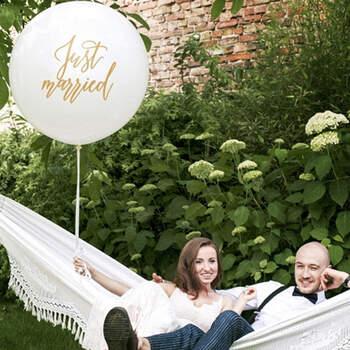 1 metro de globo recién casado - The Wedding Shop