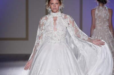 Vestidos de noiva com decote cisne: ideais e totalmente românticos