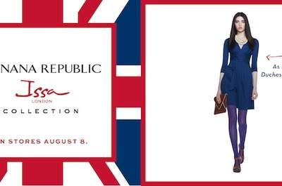 Tudo preparado para o lançamento de uma nova versão do vestido de noivado da Kate Middleton. Foto: Banana Republic Facebook