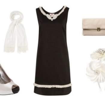 Robe Topshop, chaussures Dune, sac Zara, Accessoires Accessorize. Au top pour un mariage !