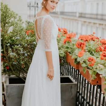 Robe de mariée la Parisienne modèle Aurélie - Crédit photo: Elsa Gary