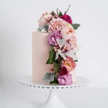 Foto: Cake Ink - Pastel con flores