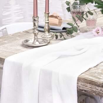 Chemin De Table En Mousseline Crème - The Wedding Shop !