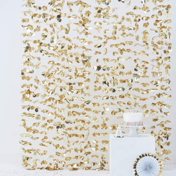 Cortina Floral Fondo Dorado- Compra en The Wedding Shop