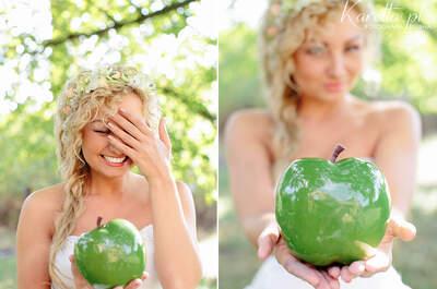 Sesja ślubna o smaku brzoskwini, towarzystwie księżniczki i kryształów!