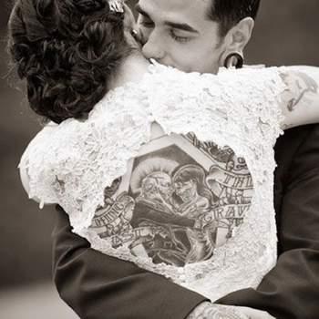 Mariée et tatouée !   Photo : Pinterest Lalunemauve.fr