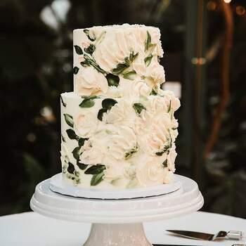 Foto: @thedessertstudioutah - Pastel de bodas en tonos claros