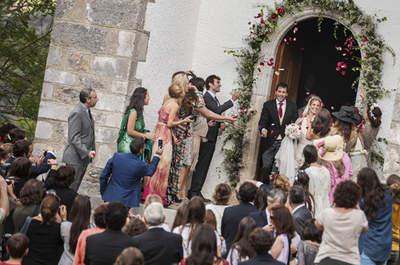Romántica boda del malo de la serie 'El Barco' en los Pirineos