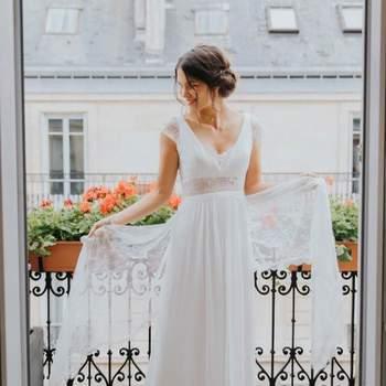 Robe de mariée la Parisienne modèle Raiponce - Crédit photo: Elsa Gary