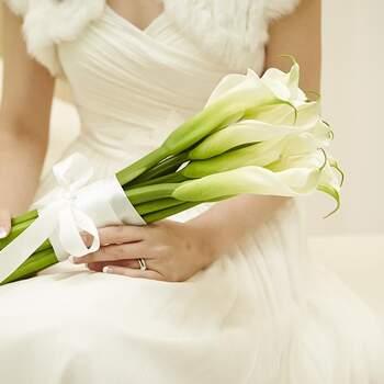 bouquet sposa calle con stelo lungo