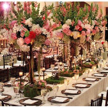 Centros de mesa para banquetes de boda con mucho estilo