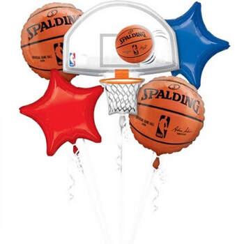 Bouquet 5 globos Spalding NBA 5 pz- Compra en The Wedding Shop