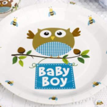 Assiettes Baby Boy 8 Pièces - The Wedding Shop !