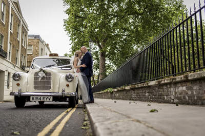Real Wedding: Cass and Rich's small, intimate affair in the centre of the big bustling city, London.