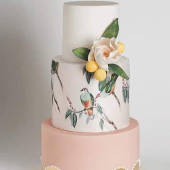 Inspiração para bolos de casamento de 3 andares | Créditos: Cake ink Instagram