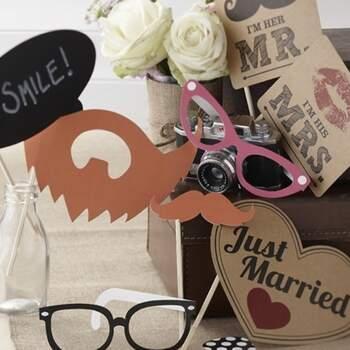 Accessoires Photocall Passion Vintage 10 pièces - The Wedding Shop !