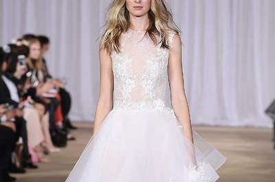 Los 50 vestidos de novia con volantes para tu boda. ¡Arrasarán esta temporada!