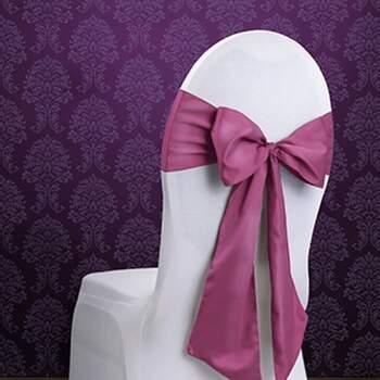 Rubans Pour Chaises Fuchsia 10 Pièces - Achetez sur The Wedding Shop !