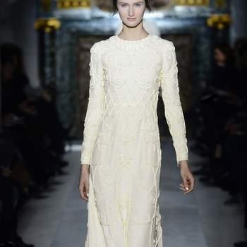 Este elegante vestido es ideal para una novia que no renuncia al estilo el día de su boda. Foto: Valentino.