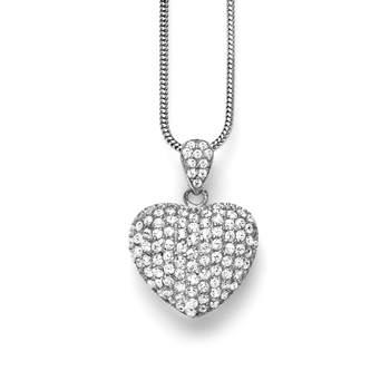 Foto: 21 Diamonds http://www.21diamonds.de/Slimline-Halskette-sterling-silber-925-rhodiert-zirkonia-silber-sp-NE1521145.htm?gP=76&pP=15&cfg=0 91.95 €