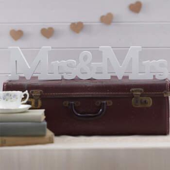 Letras Mrs. & Mrs en blanco- Compra en The Wedding Shop