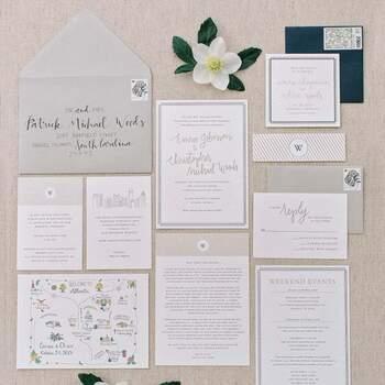 Foto: Invitaciones de boda atemporales.