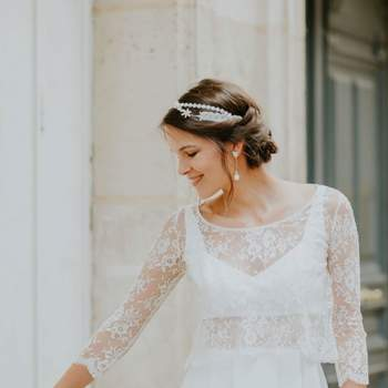 Robe de mariée vintage modèle Elina - Crédit photo: Elsa Gary