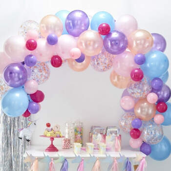 Arco de globos pastel 70 unidades- Compra en The Wedding Shop