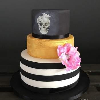 Inspiração para bolos de casamento diferentes e originais de 3 andares | Créditos: My Fancy Cake