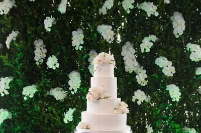 Mesa do bolo e doces : o destaque absoluto dos casamentos 2017!