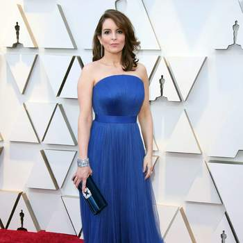 Tina Fey  w sukience od Vera Wang / Cordon Press