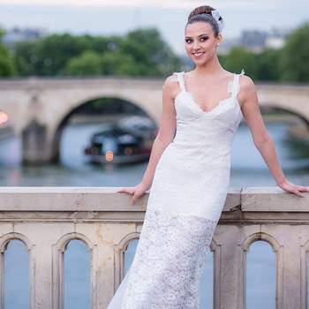 Le chic à la parisienne revisité dans les robes de mariée d'Isabelle Beaumenay Joannet