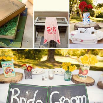Una de las tendencias más hot para el 2013 es el estilo vintage. Llena tu boda con detalles vintage. Foto de Green wedding shoes
